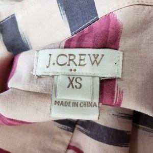 J. Crew Factory Tops - J Crew XS Factory Print Voile Popover Top Shirt